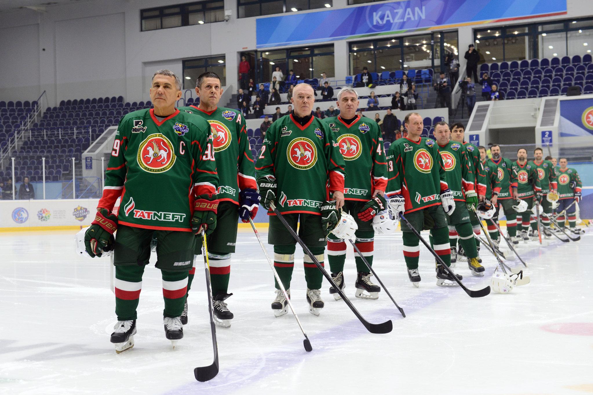 Товарищеский матч между ветеранами «Филадельфия Флайерз» и сборной Республики Татарстан
