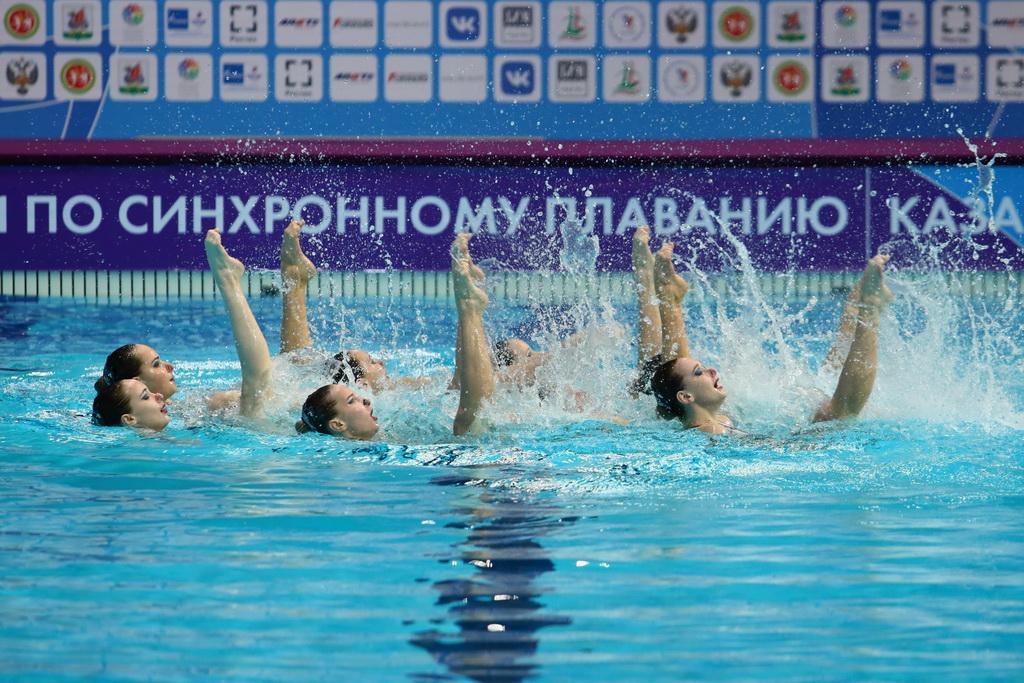 Синхронистки из Москвы выиграли в технической программе на чемпионате России в Казани