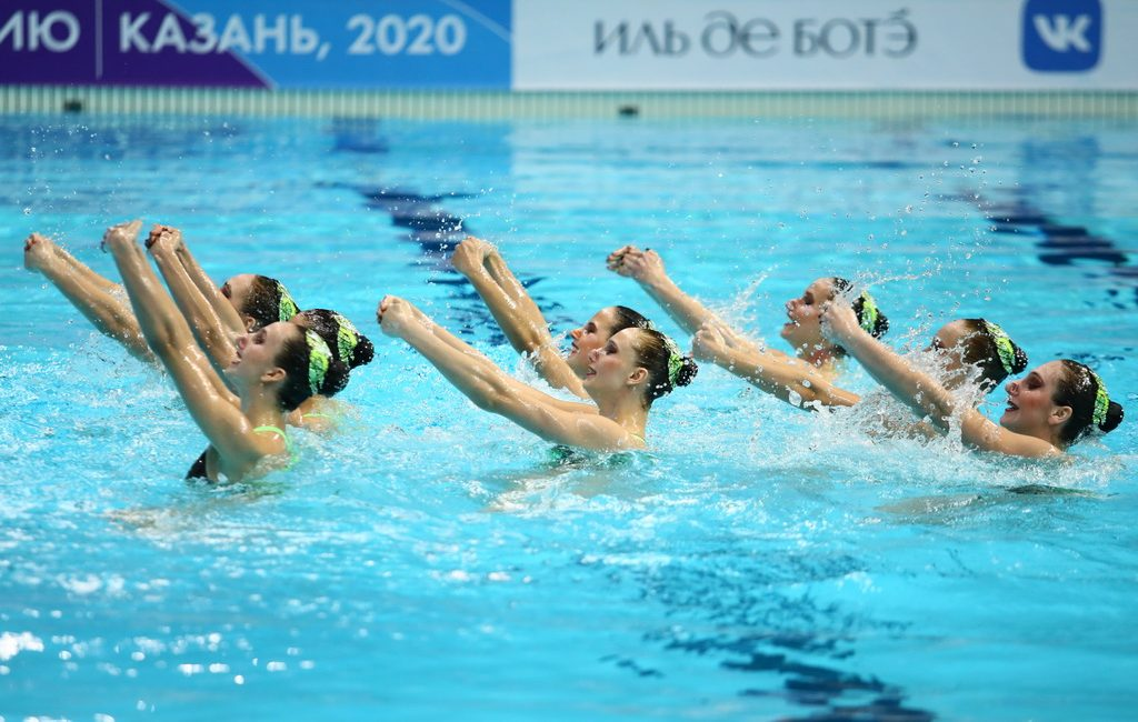 Women's Team from Moscow Takes First Place in Free Routine at the Russian Synchronised Swimming Championships