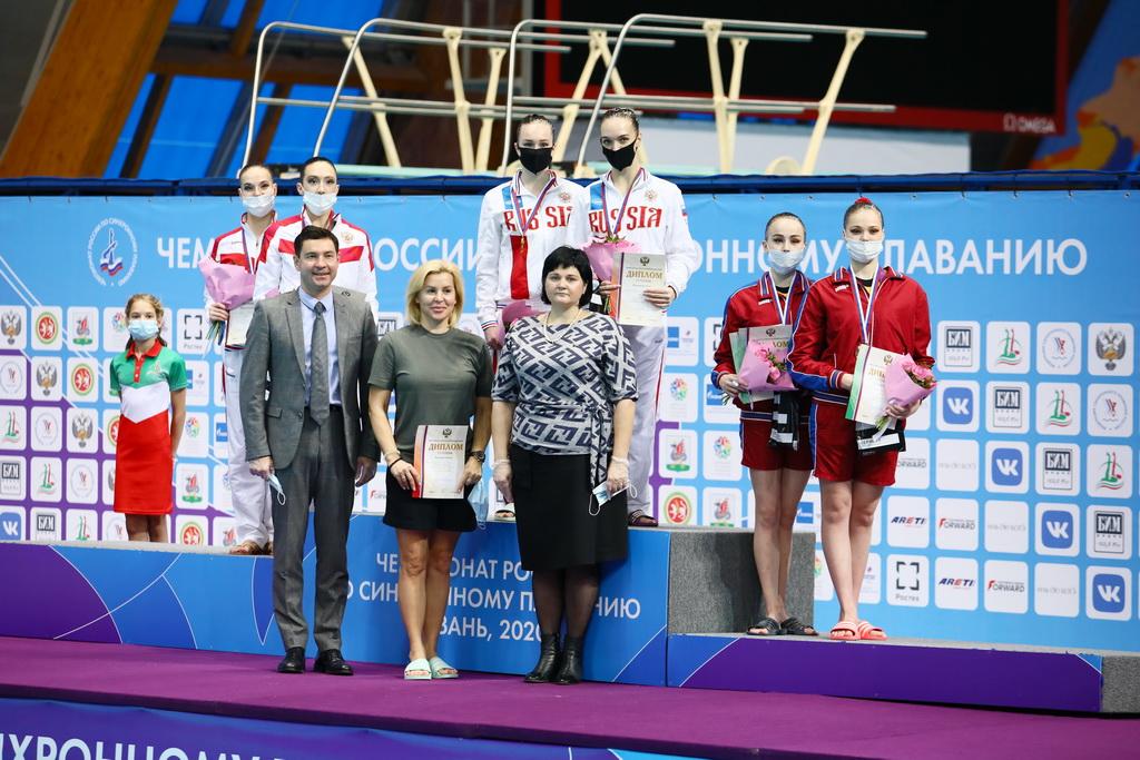 Варвара Креопалова и Алена Матвиенко завоевали «золото» в произвольной программе на чемпионате России