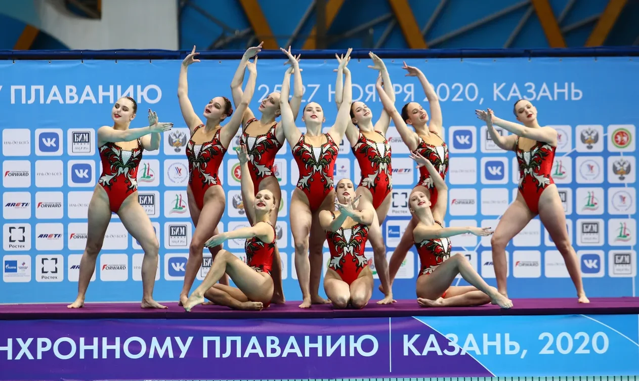 На ЧР по синхронному плаванию в Казани определили победительниц в комбинированной программе