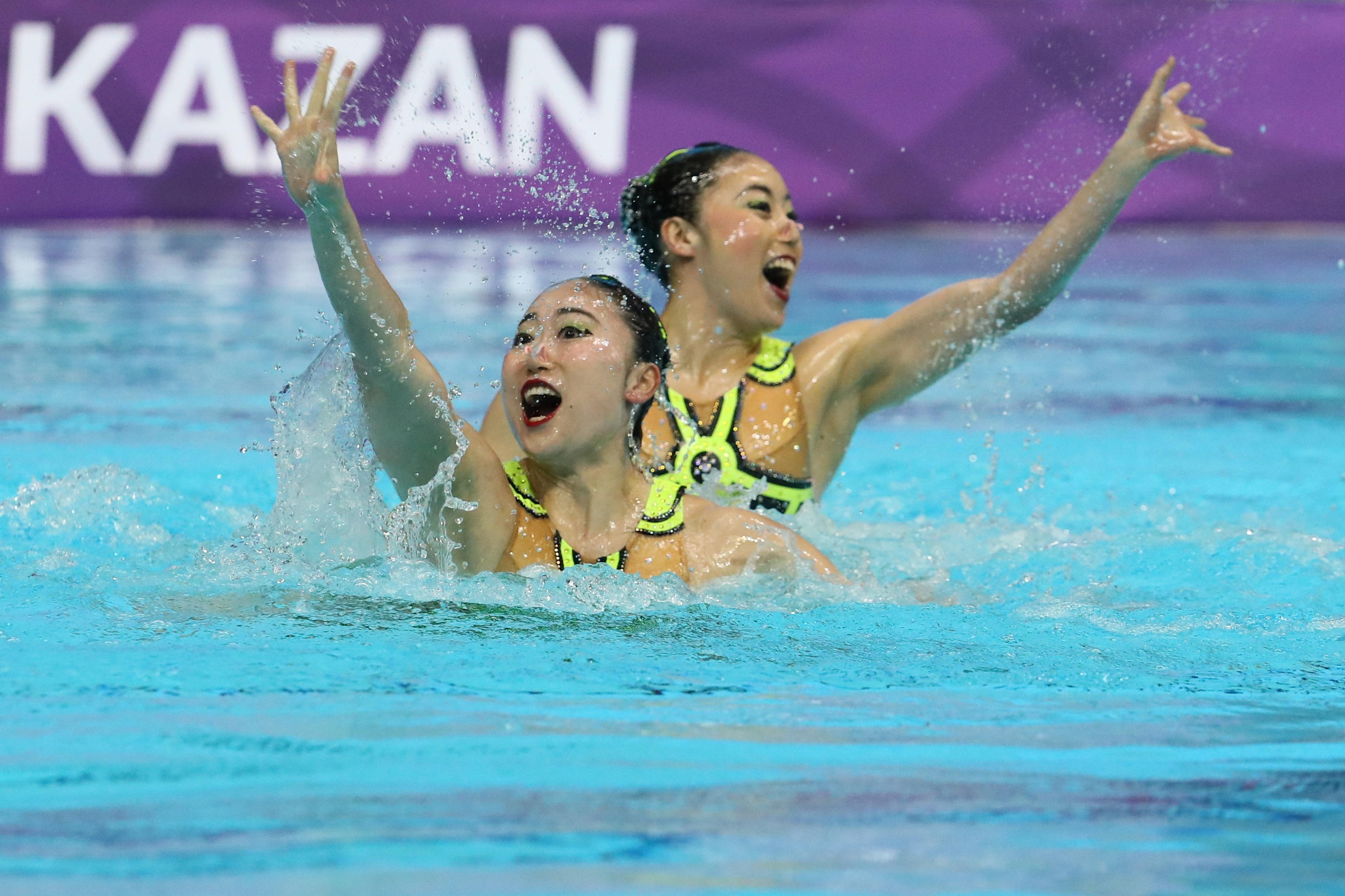 Дуэт из Японии победил на этапе Мировой серии по синхронному плаванию в Казани
