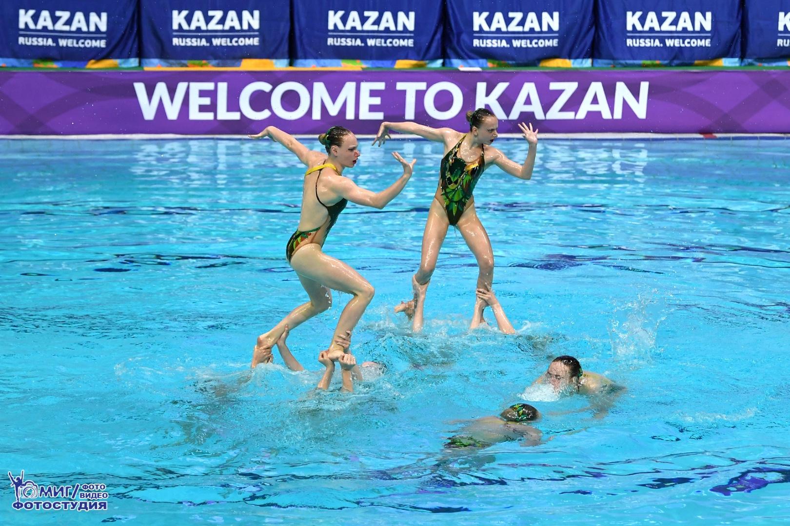 Завершился второй день чемпионата России по синхронному плаванию в Казани