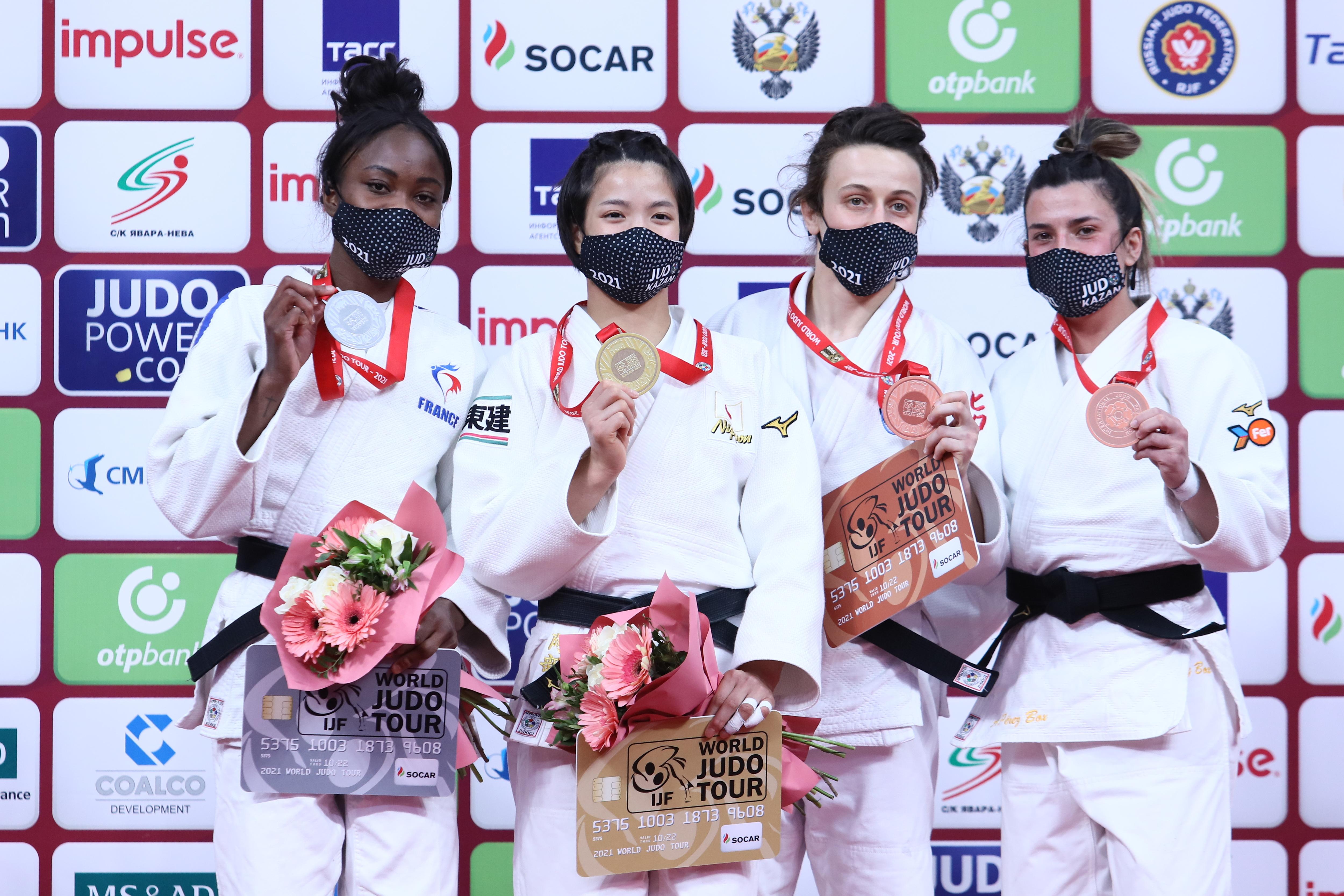 Японские дзюдоистки завоевали два золота на турнире Казани