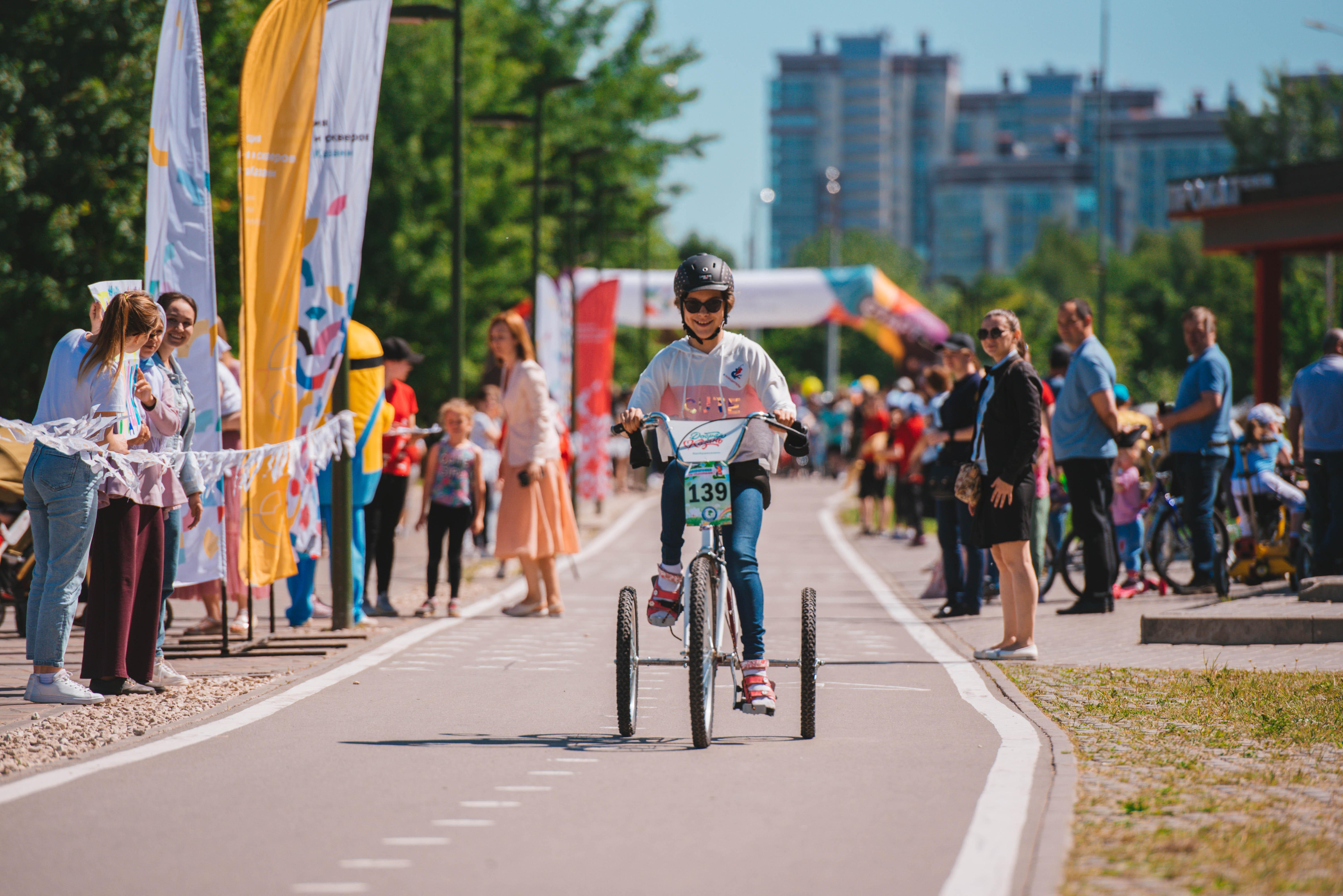 Всемирные зимние игры Специальной Олимпиады 2022 презентовали на велозабеге в Казани