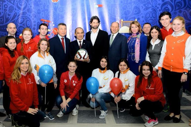 Во Всемирный день футбола в Казани открыт Волонтерский центр Чемпионата мира по футболу FIFA 2018 в России™