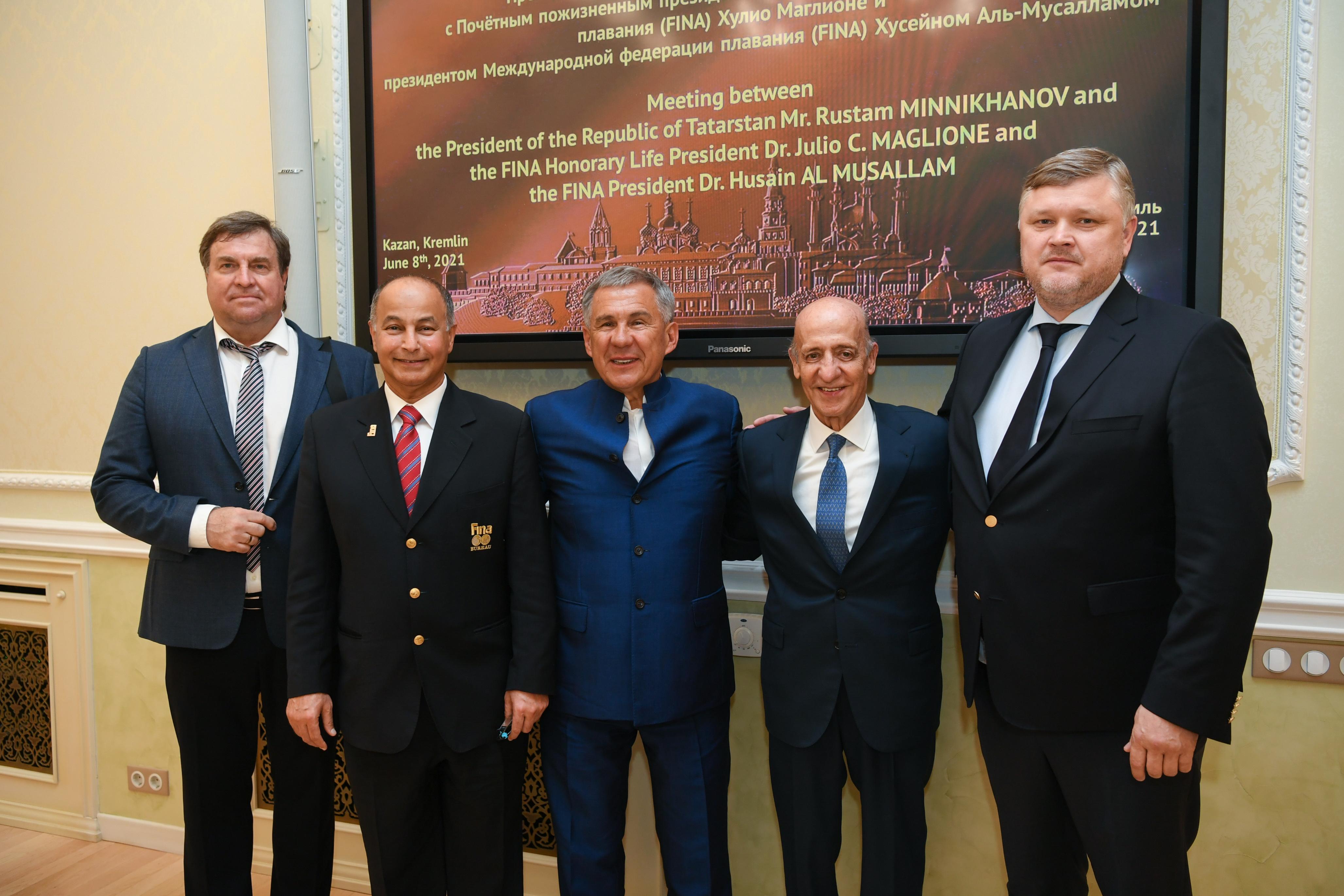 Рустам Минниханов: «FINA является стратегическим партнером Татарстана»