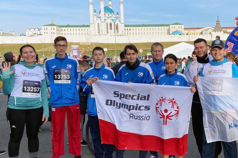 Атлеты Специальной Олимпиады России приняли участие в Казанском марафоне
