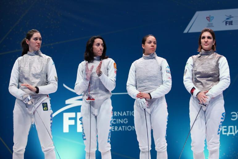 Рапиристки сборной Италии выиграли золото этапа Кубка мира в Казани