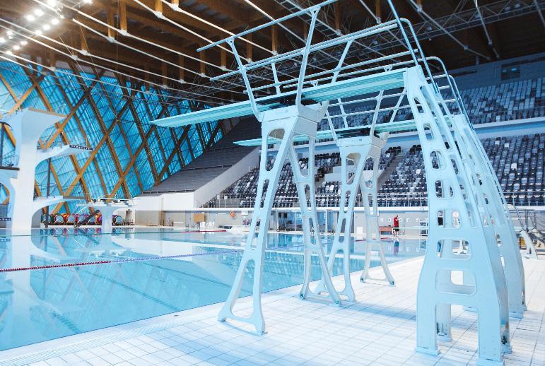 Во Дворце водных видов спорта обновили прыжковое оборудование